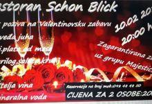 Valentinovo u restoranu Schon blick u Vetovu